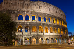Colosseum, Italy Rome. The Roman Colosseum in the evening Stock Photos