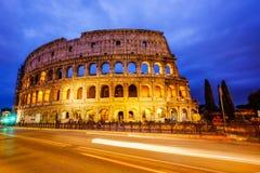 colosseum italy rome Skymningsikt av Colosseo Royaltyfri Bild