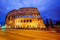 colosseum italy rome Skymningsikt av Colosseo Royaltyfria Bilder