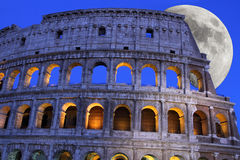Colosseum księżyc Zdjęcia Royalty Free