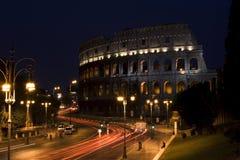 Colosseum la nuit, Rome Photographie stock libre de droits