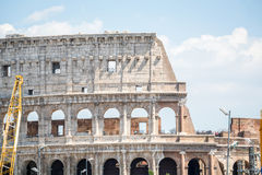 Colosseum - landmark of Rome, Italy. Colosseum in the city center of Rome, Italy is the largest amphitheatre ever built Royalty Free Stock Photo