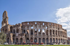 The Colosseum is landmark of Rome and Italy. The Colosseum is most remarkable landmark of Rome and Italy. Colosseum is an elliptical amphitheatre in the centre Royalty Free Stock Photo