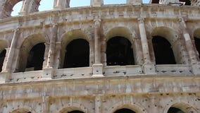 Colosseum - las atracciones turísticas principales de Roma, Italia Ruinas antiguas de Roma de Roman Civilization metrajes