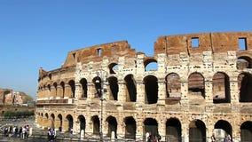 Colosseum - las atracciones turísticas principales de Roma, Italia Ruinas antiguas de Roma de Roman Civilization almacen de metraje de vídeo