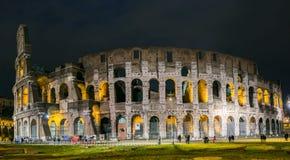 Rzym Colosseum przy nocą Fotografia Royalty Free