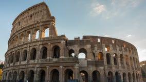 Colosseum lub kolosseumu timelapse, Flavian Amphitheatre w Rzym, Włochy zbiory