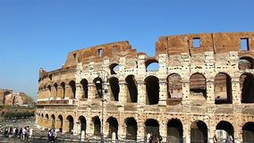 Colosseum - the main tourist attractions of Rome, Italy. Ancient Rome Ruins of Roman Civilization. stock video footage