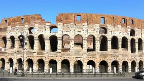 Colosseum - the main tourist attractions of Rome, Italy. Ancient Rome Ruins of Roman Civilization. stock footage