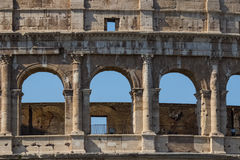 Colosseum - the main tourist attractions of Rome, Italy. Ancient Rome Ruins of Roman Civilization. Stock Photos