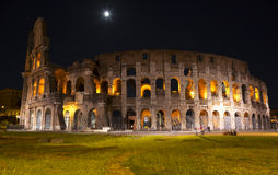 The Colosseum at moon night. Rome Stock Photography
