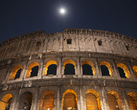 The Colosseum at moon night. Rome. Royalty Free Stock Photo