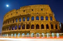 Colosseum na noite Foto de Stock Royalty Free
