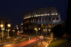 Colosseum na noite, Roma Fotografia de Stock Royalty Free