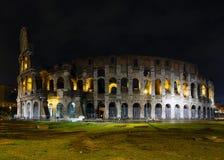 Colosseum nattsikt, Rome Arkivbilder