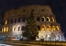 Colosseum nattsikt, Rome Arkivfoto