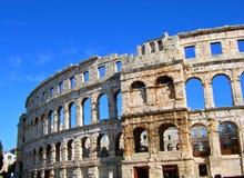 Colosseum nei PULA Fotografia Stock Libera da Diritti