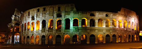 The Colosseum at night. Stock Photography