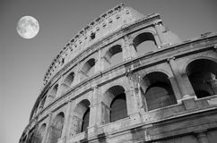 Colosseum at night. The ruins of the Colosseum in Rome at night, Italy Royalty Free Stock Photo