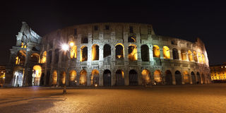The Colosseum at night. The Colosseum, the world famous landmark in Rome Stock Image