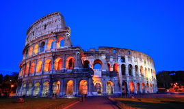Colosseum night Stock Photo