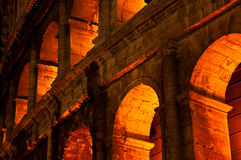 Colosseum by Night Stock Image
