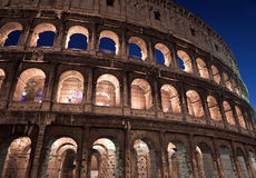 Colosseum at night Royalty Free Stock Photography