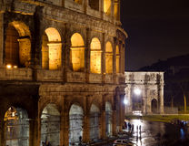 Colosseum at night. The Roman Colosseum at night Stock Image
