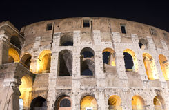 Colosseum,  night, arches closely Royalty Free Stock Photos