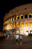 The Colosseum at night on August 6,2013 in Rome, Italy. Stock Photography