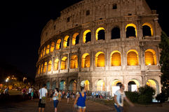 The Colosseum at night on August 6,2013 in Rome, Italy. Stock Photo