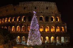 Colosseum by night in Christmas time Royalty Free Stock Image
