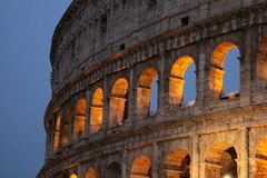 Colosseum at night. In rome Royalty Free Stock Photo
