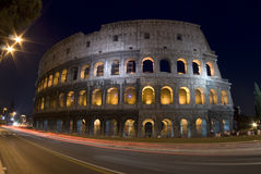 Colosseum at night dusk Stock Image