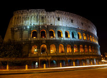 Colosseum at night illumination, Rome Royalty Free Stock Image