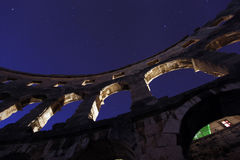 Colosseum at night light Royalty Free Stock Photos