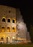 Colosseum by Night - Restoration Works 2015 Stock Image