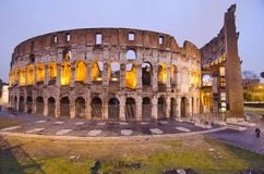 Colosseum at Night, Rome. Italy Stock Images
