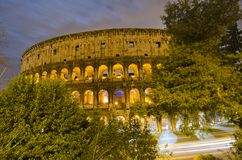 Colosseum at Night, Rome Royalty Free Stock Photos