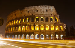 Colosseum at night, Rome. The Colosseum at night, Rome, Italy Royalty Free Stock Image