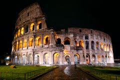 Colosseum at night, Rome. Italy Stock Image