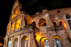Colosseum at night, Rome. Italy Stock Photography