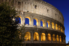 Colosseum by night. Rome and the Colosseum by night Royalty Free Stock Images