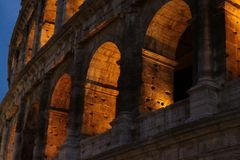 Colosseum at night. In rome Stock Photography