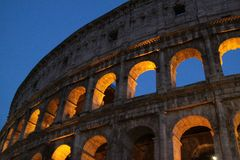 Colosseum at night. In rome Stock Image