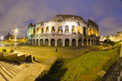 Colosseum by Night in Rome, Italy Royalty Free Stock Image