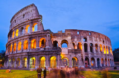 Colosseum at night, Rome, Italy Stock Photos