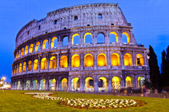 Colosseum at night, Rome, Italy. The Colosseum at night, Rome, Italy Royalty Free Stock Image
