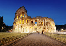 The Colosseum at night Royalty Free Stock Images
