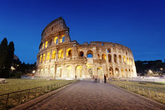 The Colosseum at night, Rome. Italy Stock Image